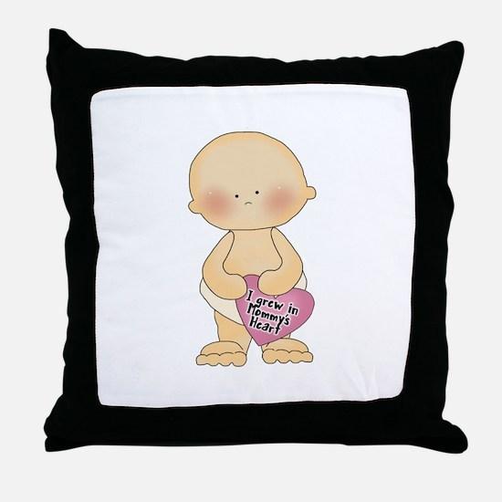 Adoption Heart Throw Pillow