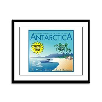 Visit Tropical Antarctica Framed Panel Print
