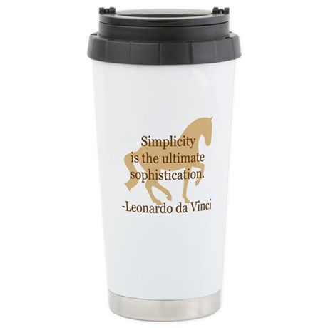 da Vinci 'simplicity' quote Stainless Steel Travel