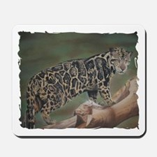 Clouded Leopard Pastel Drawing Mousepad