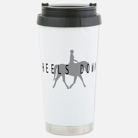 Heels Down Flat Rider Stainless Steel Travel Mug