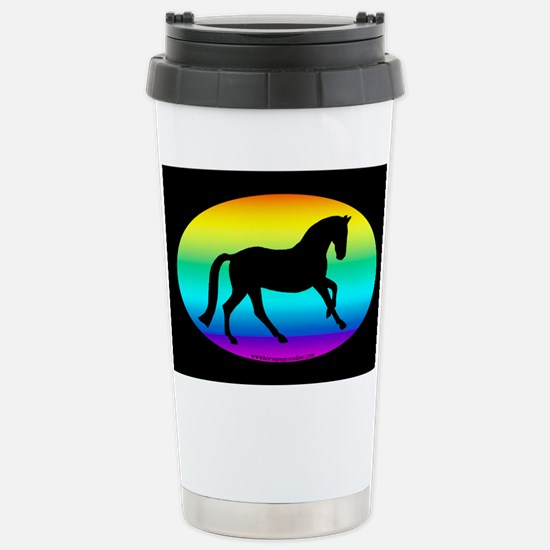 Canter Horse Oval Stainless Steel Travel Mug