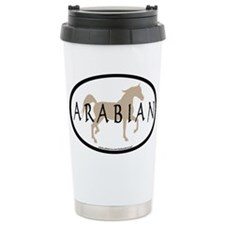 Arabian Horse & Text Oval (ta Travel Mug