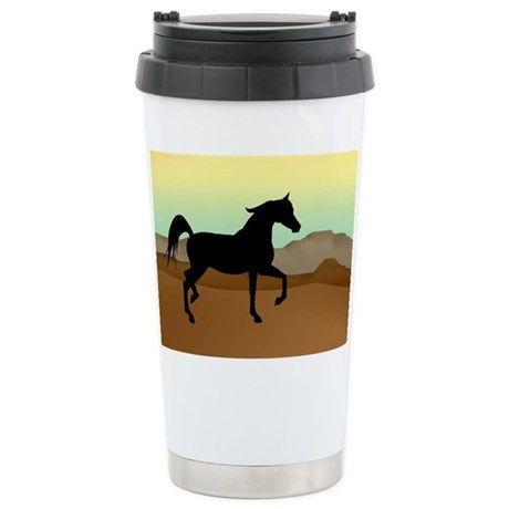 Desert Arabian Horse Stainless Steel Travel Mug