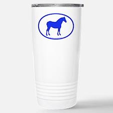 Draft Horse Oval Stainless Steel Travel Mug