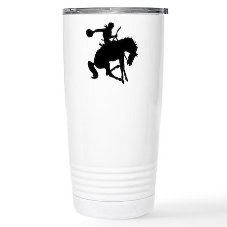 Bucking Bronc Cowboy Stainless Steel Travel Mug