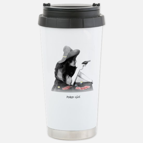 poker girl Stainless Steel Travel Mug