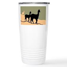 Alpacas Hillside Travel Mug