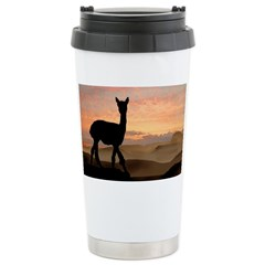 Alpaca Sunset Travel Mug