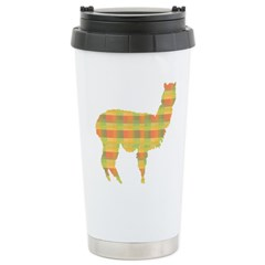 Plaid Alpaca Travel Mug