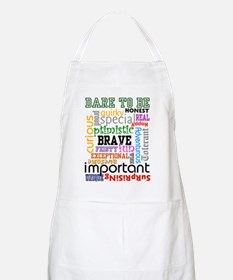 """Dare to Be"" BBQ Apron (White)"