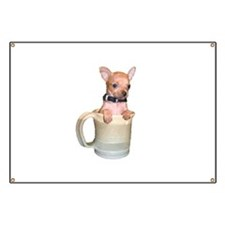 Coffee Cup Puppy Banner