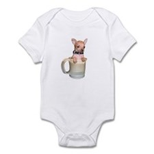Coffee Cup Puppy Infant Bodysuit