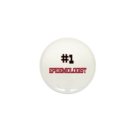 Number 1 EPIDEMIOLOGIST Mini Button (10 pack)