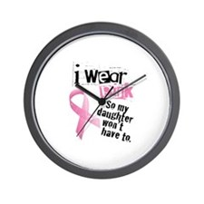 I Wear Pink - Daughter Wall Clock