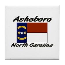 Asheboro North Carolina Tile Coaster