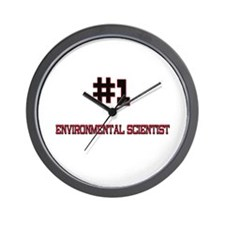 Number 1 ENVIRONMENTAL SCIENTIST Wall Clock