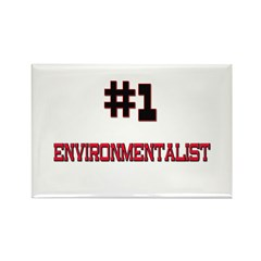 Number 1 ENVIRONMENTALIST Rectangle Magnet