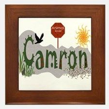 Cute Camron Framed Tile