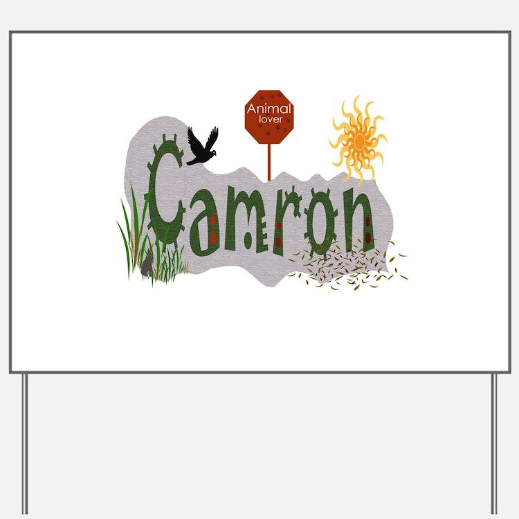 Cute Camron Yard Sign