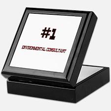 Number 1 ENVIRONMENTAL CONSULTANT Keepsake Box