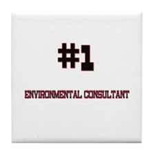 Number 1 ENVIRONMENTAL CONSULTANT Tile Coaster