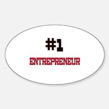 Number 1 ENTREPRENEUR Oval Decal