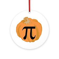 Pumpkin Pie (Pi) Ornament (Round)