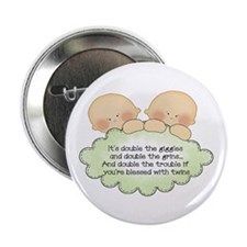 """Twin Giggles 2.25"""" Button"""