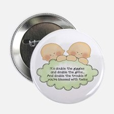 "Twin Giggles 2.25"" Button"