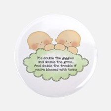 """Twin Giggles 3.5"""" Button"""