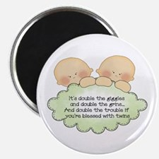 """Twin Giggles 2.25"""" Magnet (100 pack)"""