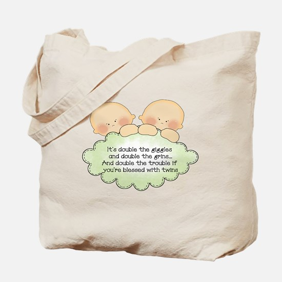 Twin Giggles Tote Bag