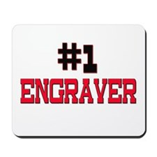 Number 1 ENGRAVER Mousepad