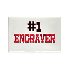 Number 1 ENGRAVER Rectangle Magnet