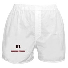 Number 1 ENGINEERING TECHNICIAN Boxer Shorts