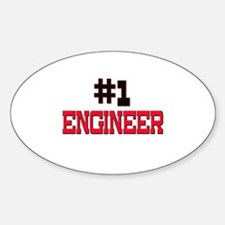 Number 1 ENGINEER Oval Decal