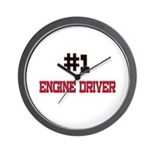 Number 1 ENGINE DRIVER Wall Clock