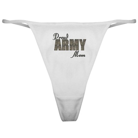 Proud Army Mom (ACU) Classic Thong