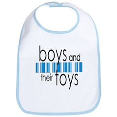 Boys & Their Toys Bib