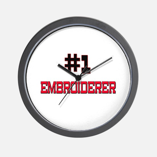 Number 1 EMBROIDERER Wall Clock