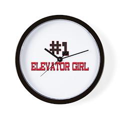 Number 1 ELEVATOR GIRL Wall Clock