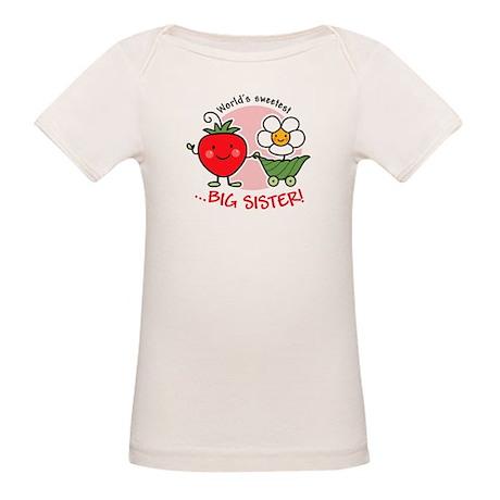 Big Sister - Strawberry Organic Baby T-Shirt