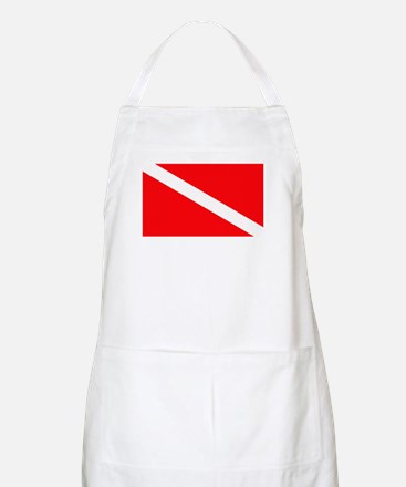 Diver Down Flag BBQ Apron