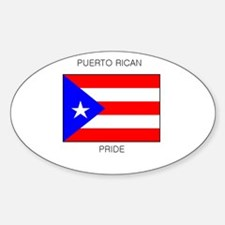Puerto Rico Rican Pride Oval Decal