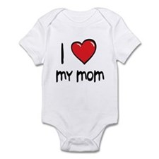 I Love Mom Cartoon Heart Infant Bodysuit