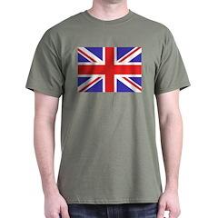 British Flag Black T-Shirt