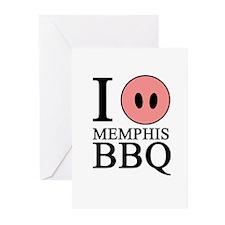 I Love Memphis BBQ Greeting Cards (Pk of 20)