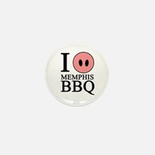I Love Memphis BBQ Mini Button (100 pack)
