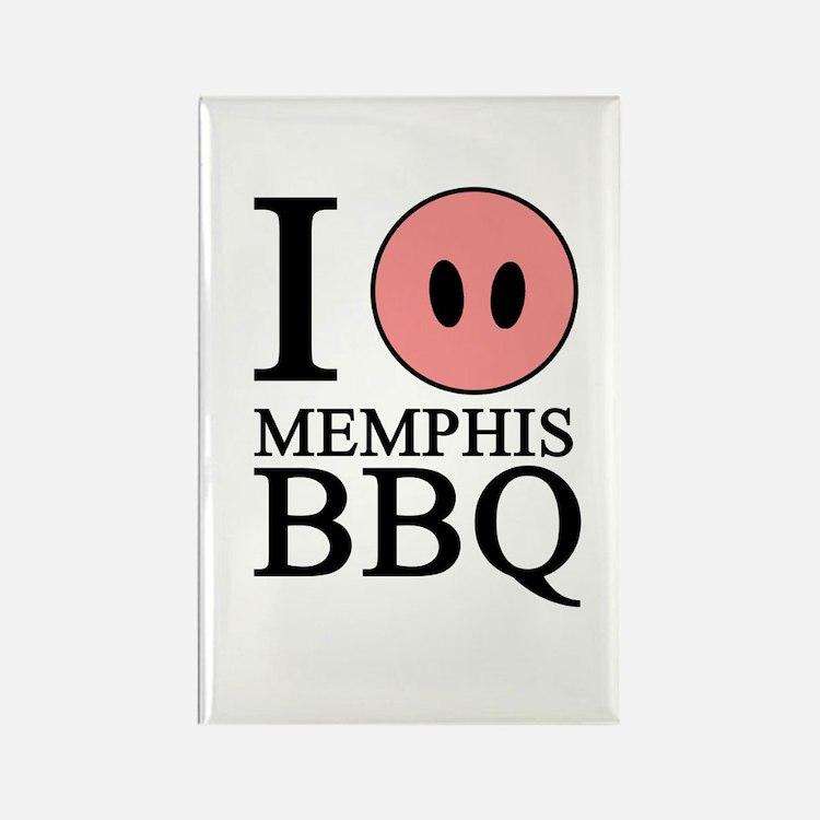 I Love Memphis BBQ Rectangle Magnet